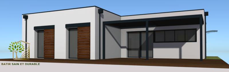 construction d une maison contemporaine toit terrasse. Black Bedroom Furniture Sets. Home Design Ideas