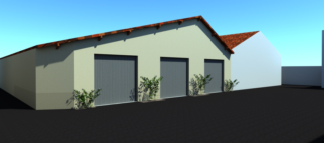 Construction de 3 garages